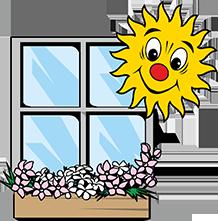 Fenster mit Sonne