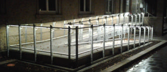 Geländer mit Beleuchtung